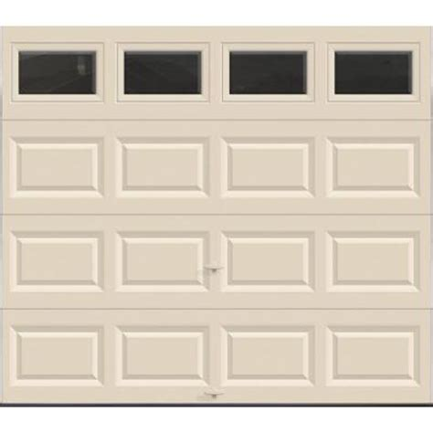 Clopay Value Series 8 Ft X 7 Ft Non Insulated Almond Insulated Garage Doors Home Depot