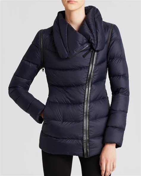 Zip Coat by Mackage Coat Qeren Asymmetric Zip In Blue Ink Lyst