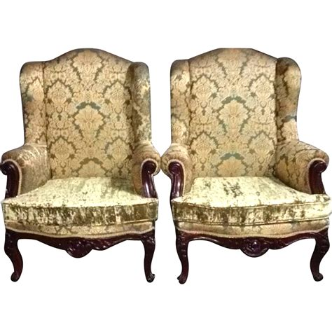 huge armchair two beautiful old chairs in big model in french louis xvi