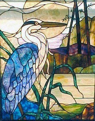 stained glass pattern blue heron oriental stained glass art the silk route series art