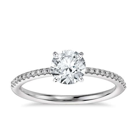micropav 233 engagement ring in 14k white gold