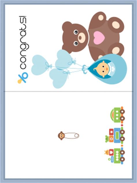 and baby congrats card