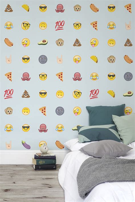 emoji wallpaper for walls emoji wallpaper by murals wallpaper
