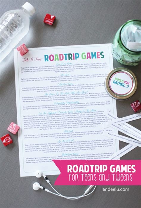printable road trip games for tweens road trip games for teens tweens landeelu com