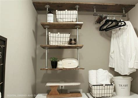 diy laundry room shelving get this farmhouse look