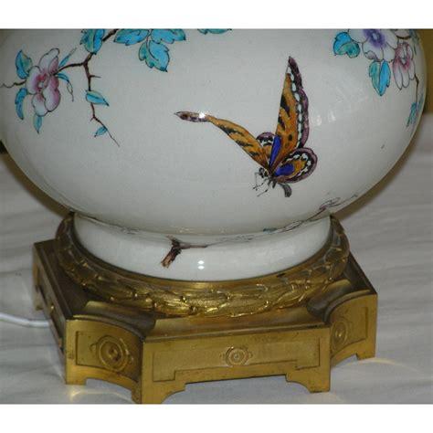 abat jour le 1891 le avec d 233 cor de fleurs et papillon sur moinat sa