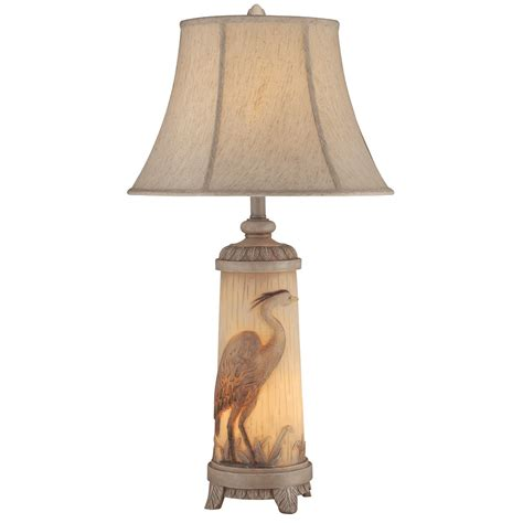 table l with night light heron night light table l