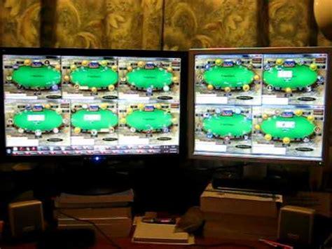 pokerstars multi tabling  nl tables  poker setup   monitors youtube
