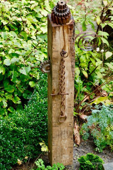 Holz Deko Im Garten by Seminar Gartenstele Aus Holz Bauen Karin
