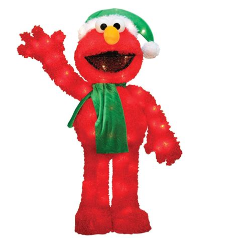 sesame street 32 quot 3 dimensional elmo holiday lights
