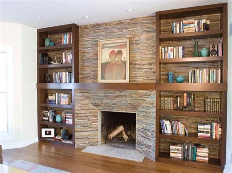 make your own bookcase fireplace designs with bookshelves