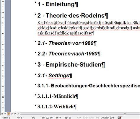 Word Vorlage Gliederung Automatisches Gliedern Nummerieren 220 Berschriften