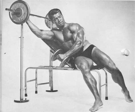 steve reeves bench press the tight tan slacks of dezso ban intermediate deltoid