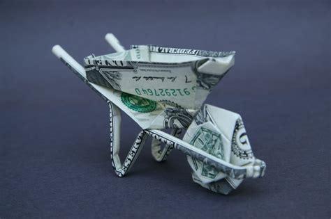 Bill Origami - wheelbarrow dollar bill origami taro s origami studio