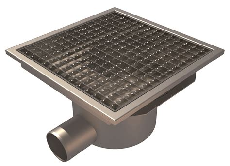 Square Floor L Floor Gully Concrete Flooring L15 Square Grating Side Outlet 216 75 300x300
