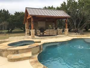 cabana backyard leander tx pool cabana builder austin decks pergolas