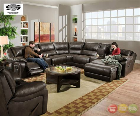 Black Leather Reclining Sectional With Chaise Black Brown Bonded Leather Sectional Sofa W