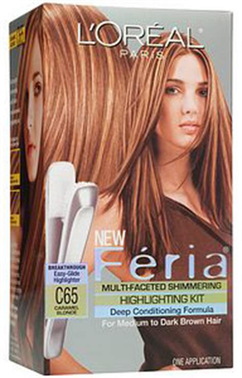 hair color kits with highlights loreal feria multi faceted shimmering hair highlighting