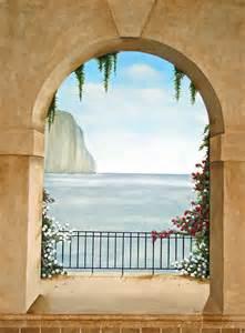 Trompe Loeil Murals Trompe L Oeil Mural Island Of Capri