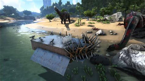 ark motorboat base ark survival evolved warship new raft item youtube