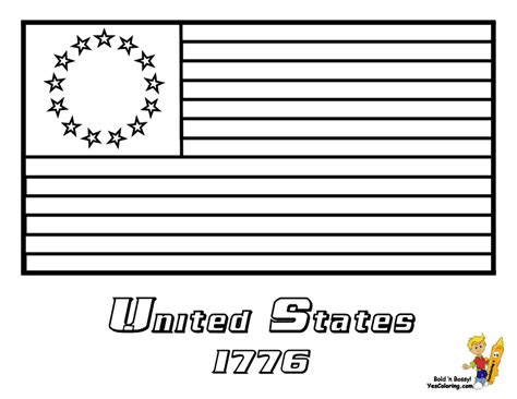 coloring page for united states flag usa flag coloring