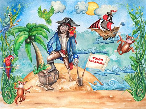 pirate wall murals pirate wallpaper mural for boys bedrooms rachie b bespoke wallpaper