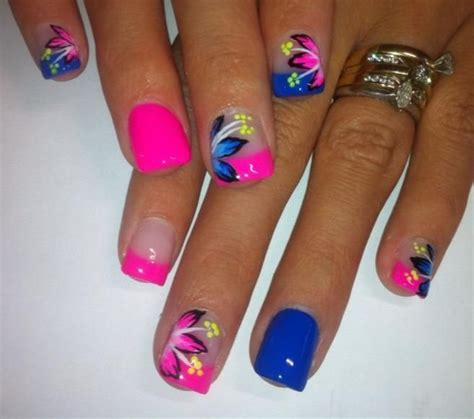 easy nail art bright colors summer nail art design from instagram styles 7