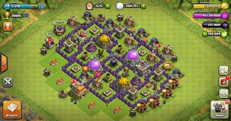 layout coc untuk th 7 design farming base clash of clans th 7 design base