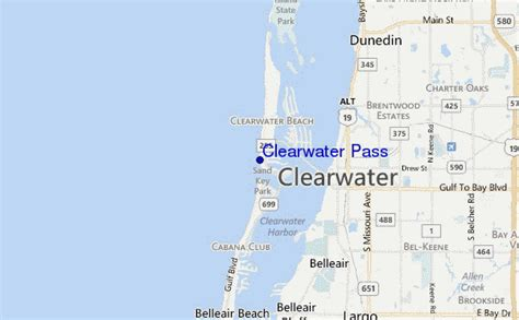 map of florida showing clearwater clearwater pass surf forecast and surf reports florida