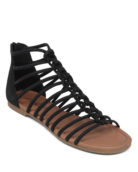 lucky brand sandals lyst lucky brand flat sandals casmett caged in black