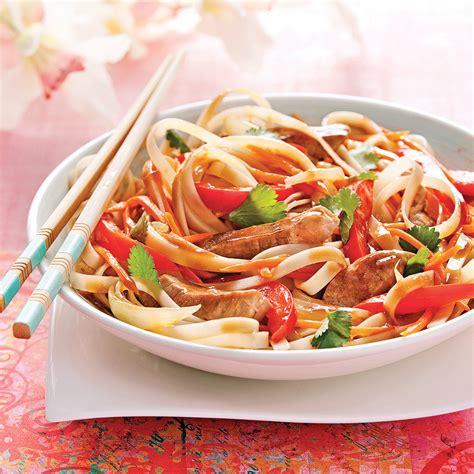 cuisine et recettes nouilles saut 233 es au porc sauce tha 239 recettes cuisine