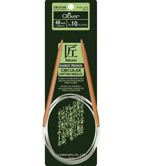 size 10 knitting needles clover bamboo circular knitting needles 48 size 10 jo