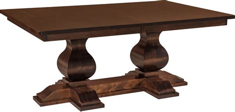 double pedestal dining room tables barrington double pedestal table brandenberry amish