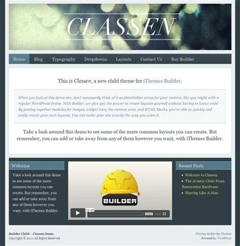builder child themes ithemes builder theme free child theme classen dobeweb
