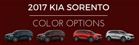 new colors for 2017 ad 2017 kia sorento paint color options