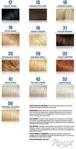 roux hair color roux fanci hair rinse color chart brown hairs