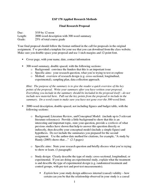 sections of a proposal dissertation proposal methodology section