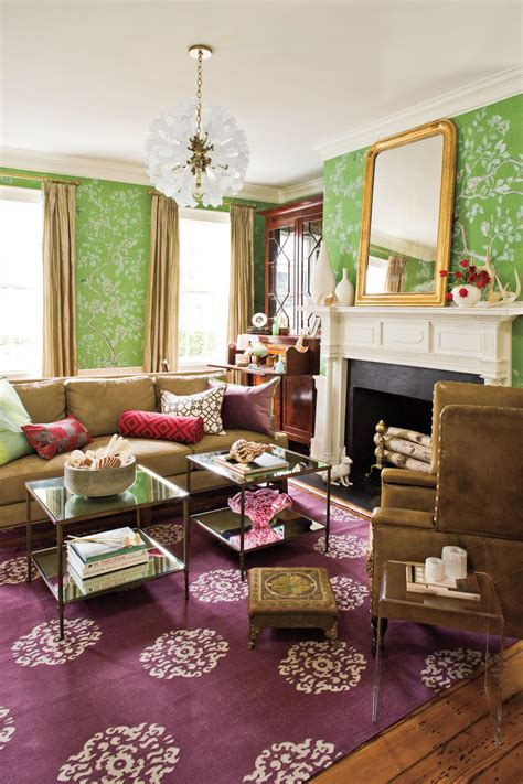 pink accessories for living room pink and purple decorating ideas southern living