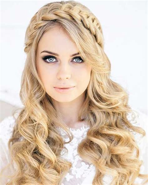 braid hairstyles for long curly hair 30 best prom hairstyles for long curly hair long