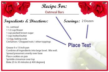 Template For Food Recipe 7000 Recipes Recipe Powerpoint Template