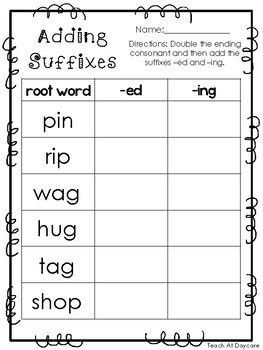 Suffixes Worksheets Pdf by 10 Adding Suffixes Printable Worksheets In Pdf File Kdg