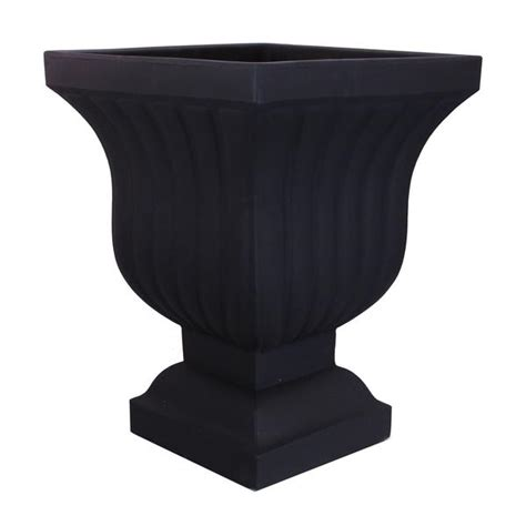 Plastic Planter Urns by Square Urn Planter Plastic 22 Quot Leyla By Crescent