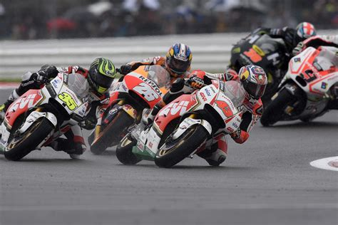 best place to motogp at silverstone pedrosa top honda at silverstone marquez crashes out motogp