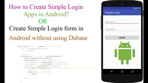 design login form in android how to create simple login form in android studio without