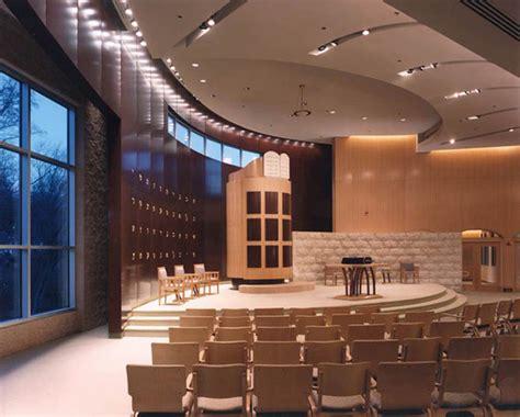interior layout of a synagogue b nai tzedek synagogue gilmore lighting design