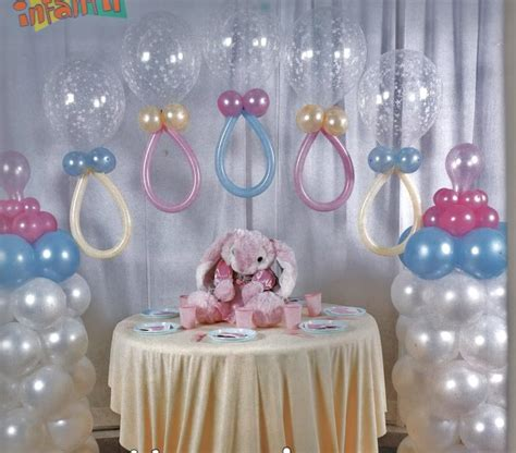 torres de globos decoraci 243 n para baby shower creations baby shower balloons baby