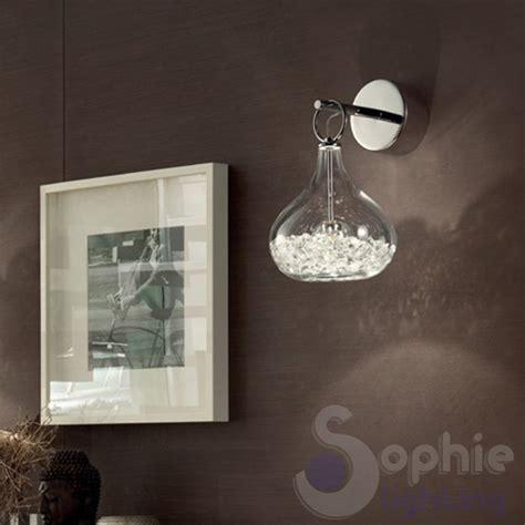 applique moderne led applique parete moderno acciaio cromato sfere vetro