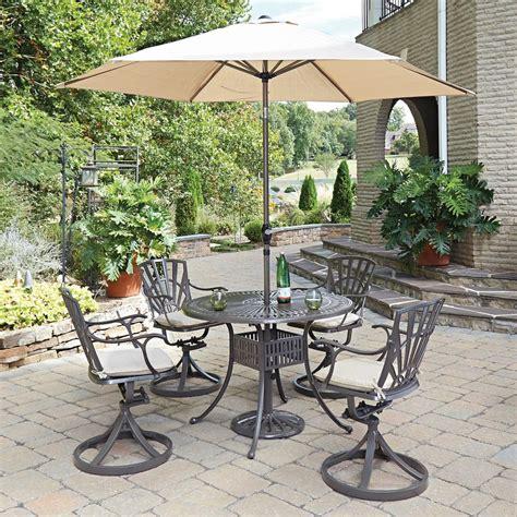 home styles largo 5 patio dining set with umbrella