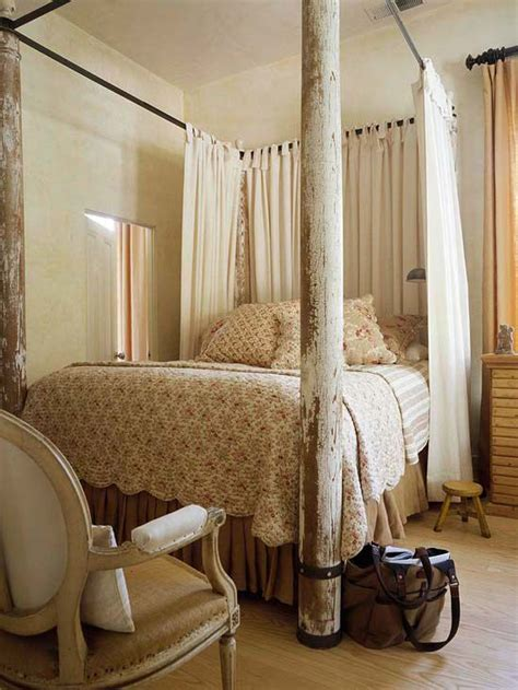 curtains for canopy bed frame flea market chic home accents the metal frames and poster beds