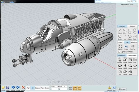 3d Modeling Software moi gallery spaceship wip